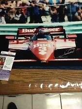 Autographed Mario Andretti 16-20 Photo Front View Shot Jsa Certified Signed