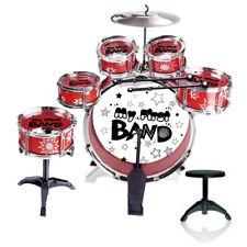 Kids Junior Red Jazz Drum Kit Musical Set Children Mini Big Band Play Toy Music