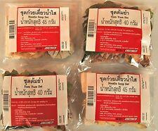 Tom Yum picante y sopa de fideos conjuntos Listo Para Cocinar secos sopa Mix 4 Packs Poste LIBRE