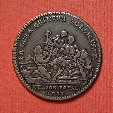JETON LOUIS XIV TRÉSOR ROYAL 1715