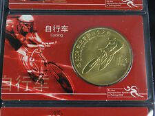10 Yuan 2008 Giochi Olimpici Beijing Coincard Ciclismo 2 (25214)