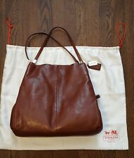 Coach Madison Phoebe Large Saddle/Cognac Leather Shoulder Bag Tote