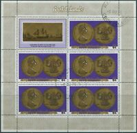 Cook Islands 1975 SG525 $2 Cook Second Voyage coins sheet FU