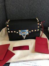 Black Valentino Rockstud Mini Crossbody/shoulder/small clutch Bag