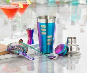 Cocktail Making Boston Shaker Stainless Mixer Set Party Pack Gift Drinks Events
