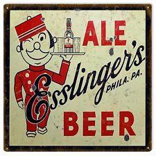 Ale Esslinger's Beer Bar And Restaurant Sign Advertisement
