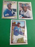 Ken Griffey Jr ROOKIE CARD LOT X3 Bowman #220 Fleer #548 Upper Deck #156 ERROR