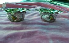 2 George Shiebler Co Sterling Silver Aesthetic Movement Handled Bowls W Bugs P