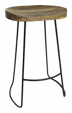 Industrial Retro Vintage Rustic Pub Bar Stool Kitchen Wood Seat Chair Furniture