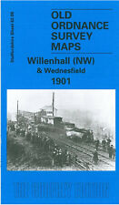 OLD ORDNANCE SURVEY MAP WILLENHALL NW & WEDNESFIELD 1901