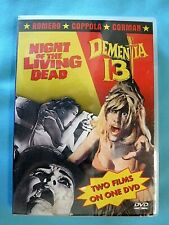 Vtg 1968 Night Of The Living Dead / Dementia 13 Scary Horror Sc-Fi Dvd Movies