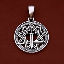 Sword and Inglia Star silver pendant norse pendant vikings pagan slavic pendant