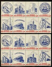 US / NY  MNH Oswego 1948 Poster Stamps, sheet with seperations   X7257