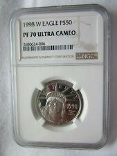 1998 W $50 US Platinum Eagle - NGC PF70