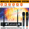 UHF Wireless Microphone Mic System 2 Channel Dual Handheld Microphone   R