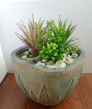 4 Mini Artificial Plants Tequila And Mini Heart Leaf Grass Succulents Bush