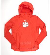 Clemson Tigers Nike Lightweight Player Jacket Hooded Pullover Men's M Orange