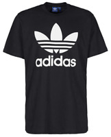 Adidas Mens S/S T-Shirt TREFOIL Vtg Logo BLACK WHITE Supreme Shoes S-XL $30