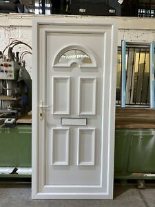 SECOND HAND UPVC DOOR, REFURBISHED, WHITE, 930mm Wide By 2015mm Height (D210)