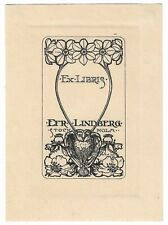 F. HOVIUS: Exlibris für Efr. Lindberg, Stockholm, 1902