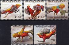 GOLDEN (Chinese) PHEASANT / Gamebird Bird Stamp Set (2012 Burundi)