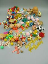 Large Lot of Vintage Cake Toppers + Similar Party Favors Baby Clowns