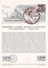 Document philatélique 40-78 1er jour 1978 Première Liaison Postale Aérienne
