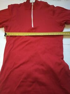 Soviet USSR red cotton cycling jersey