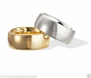 REAL SOLID 10K / 14K WHITE YELLOW GOLD PLAIN FIT WEDDING RING BAND  2 3 4 MM
