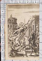 1709 Virgil Aeneid Stampa Du Guernier Mitologia Romana Greco Hermes Mercury