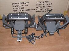 2 Duke #4 Rubber Jaw 4 Coil Spring Traps Beaver Coyote Wolf Trap 0505 New Sale