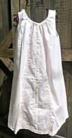 Vtg NOS Sears Nightgown Pink Lace Modest Nightgown Sz S M New With Tags USA