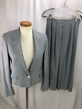 Barry Bricken Women's Blue Skirt Suit 8