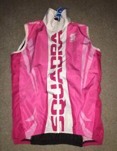 SQUADRA Women's  Pink Wind Vest Size Medium NEW With Tags