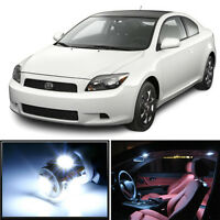 8 x Premium Xenon White LED Lights Interior Package Kit for Scion tC 2005-2007