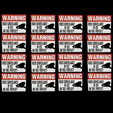 Waterproof Camera Warning Stickers Decals For Home Security System Doors Outdoor