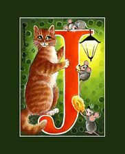 "Alphabet Cat ACEO Print Letter ""J"" by I Garmashova"