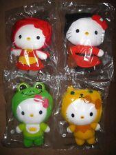 2012 China McDonalds Fairy Tales Hello Kitty plush limited set of 4 Brand New