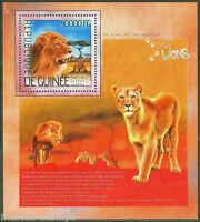 GUINEA  2014 LIONS SOUVENIR SHEET MINT NH