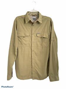 Columbia Titanium Mens M Nylon Long Sleeve Button Vented Fishing Outdoor Shirt