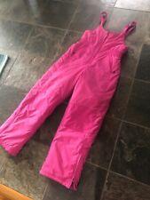 LL Bean Girls M 12 Pink Ski Snow Snowboard Winter Insulated Bibs Pants