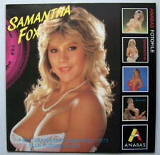 SAMANTHA FOX 1986 ANABAS Fotofile 4 colour photos Nude Glamour Model TBE 31x31cm