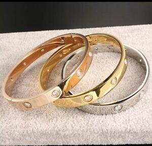 Love Armband Bracelet Schrauben Schraube Rose-Gold oder Silber Armreif Edelstahl