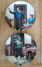 The Honeymooners The Golfer and Bang! Zoom! The Hamilton Collection Plates Le