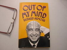 Richard Armour Author Signed Out of My Mind Witty Humor Funny Vintage 1972