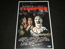 DAVID HOWARD THORNTON & DAMIEN LEONE Signed TERRIFIER 11x17 Poster BECKETT COA