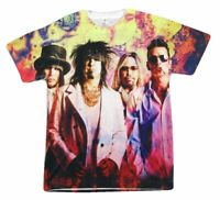 Motley Crue All Bad Things 2014 2015 All Over Sublimated T Shirt New Official