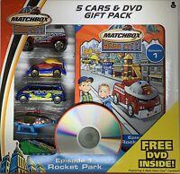 Matchbox Hero City 5 Cars & DVD Gift Pack Mattel 2004 Episode 1 Rocket Park