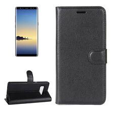 FUNDA NEGRA para Samsung Galaxy Note 8 n950f potada Del Libro Bolsa, bolsillo,