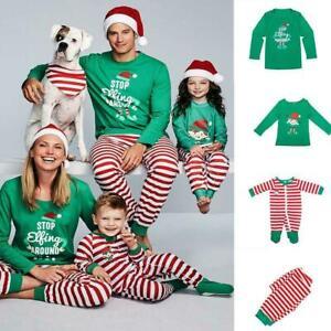 Xmas Elf Pyjamas Family Matching Adults Kids Baby Christmas Pajamas Nightwear
